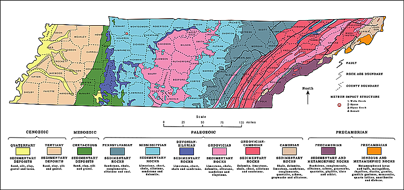 Tennessee Geological Map