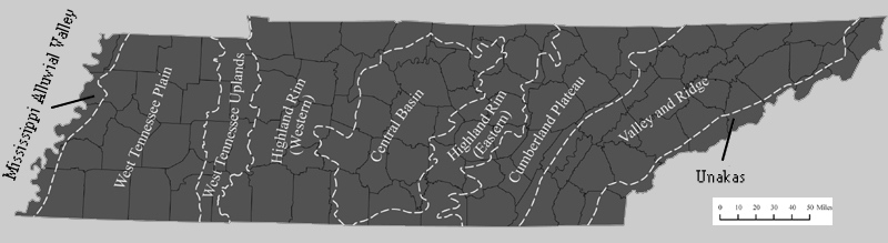 Tennessee Provicial Map